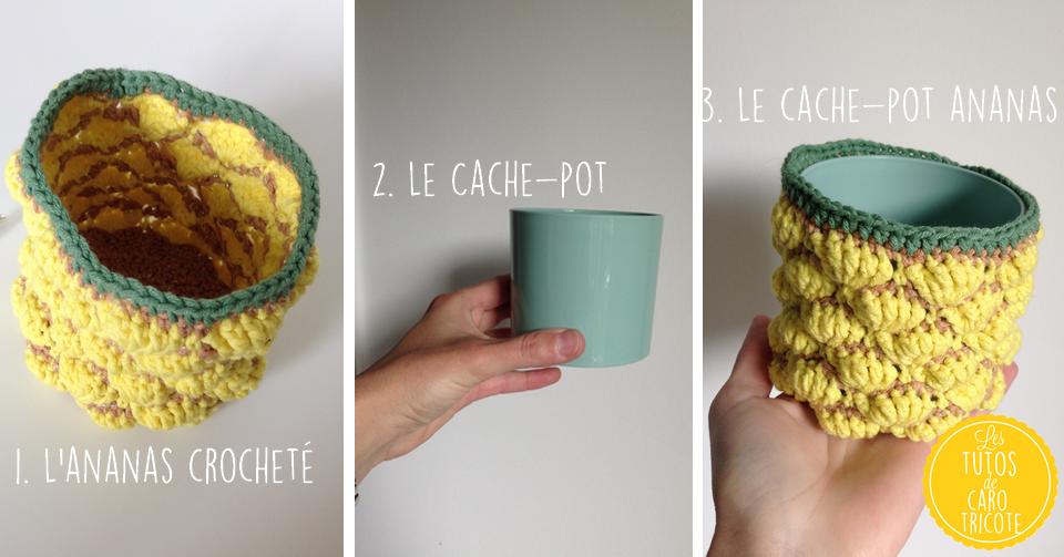 Extrem Tuto : Un cache-pot au crochet en forme d'ananas – Pour plante  YD02
