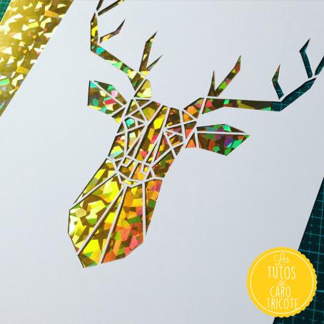 Kirigami - Un cerf en origami