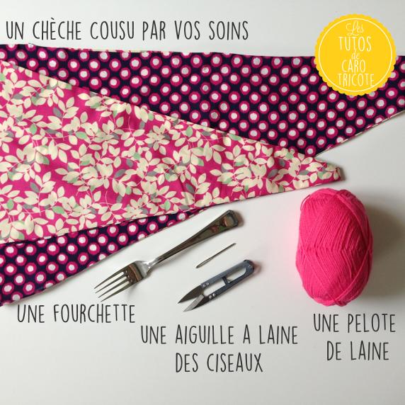 tuto couture un ch che foulard pompons pour petites filles le blog de caro tricote. Black Bedroom Furniture Sets. Home Design Ideas