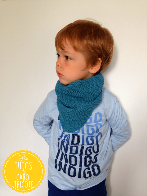 Tuto : Trendy châle version snood pour enfant - Col Cowboy