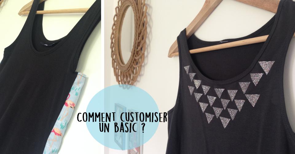 tuto deux fa ons tr s simples de customiser un top flex et couture le blog de caro tricote. Black Bedroom Furniture Sets. Home Design Ideas