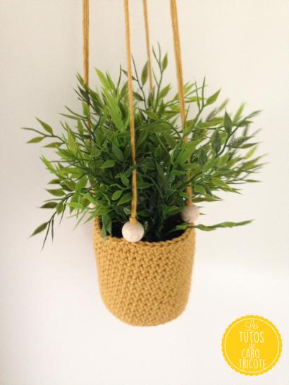 Tuto suspensions au crochet pour plantes fa on macram - Suspension pour plante exterieur ...