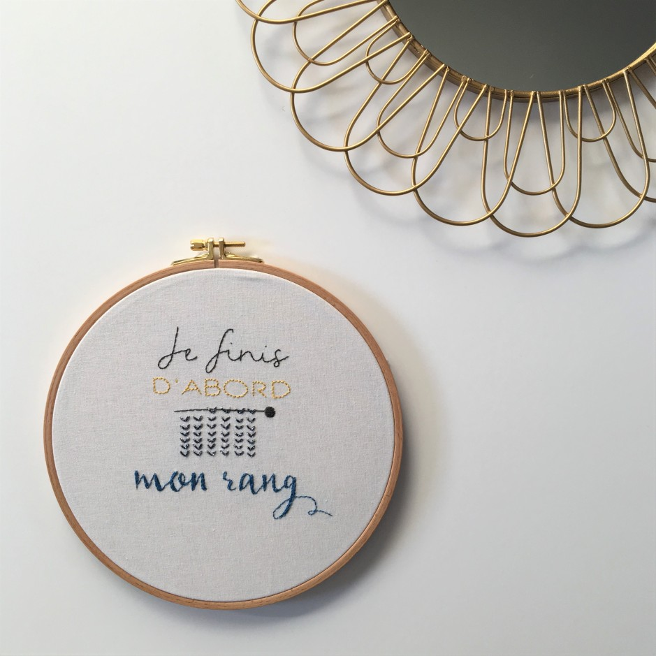 "Tambour brodé ou ""hoop art"" - Je finis d'abord mon rang ! (Free Printable)"