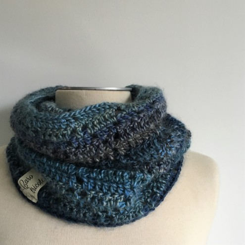 Modèle / Patron de snood homme au crochet - Snood Laurent