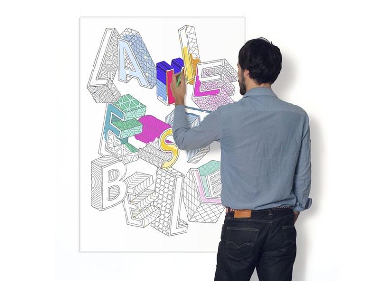 affiche-a-colorier-pour-les-grands-la-vie-est-belle