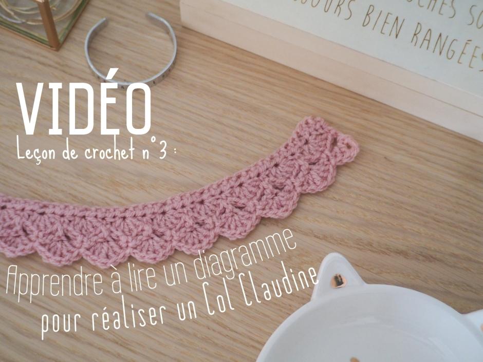 Tuto vidéo : Lire un diagramme au crochet et réaliser un Col Claudine