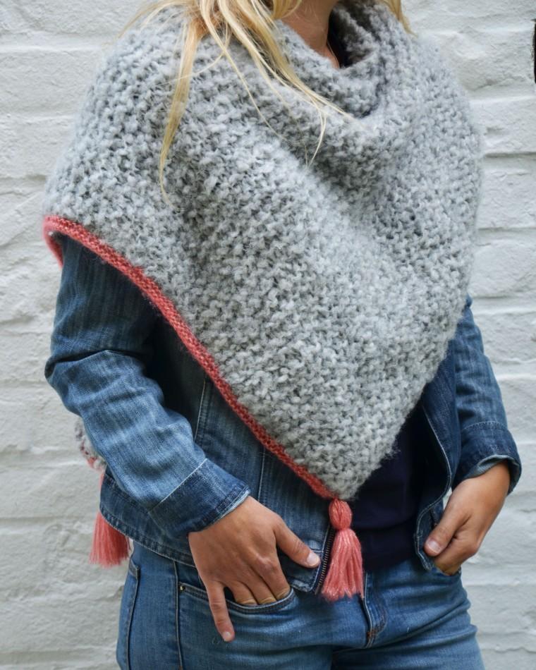 faire un poncho au tricot   mod u00e8le et explications   tricot